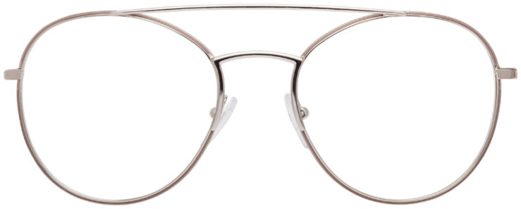 PRESCRIPTION-GLASSES-MODELPRADA-JOURNAL-VPR55U-SILVER-FRONT