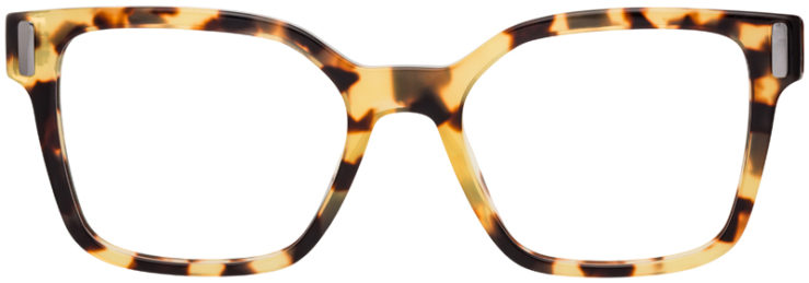 PRESCRIPTION-GLASSES-MODELPRADA-VPR05T-YELLOW-TORTOISE-FRONT