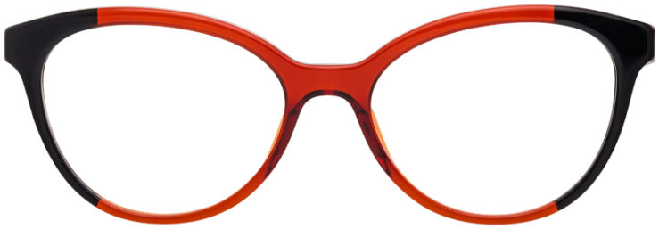PRESCRIPTION-GLASSES-MODELPRADA-VPR05U-RED-BLACK-TORTOISE-FRONT