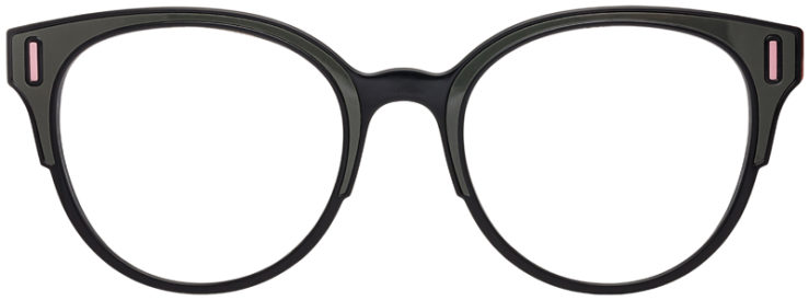 PRESCRIPTION-GLASSES-MODELPRADA-VPR08U-BLACK-OLIVE-PINK-FRONT