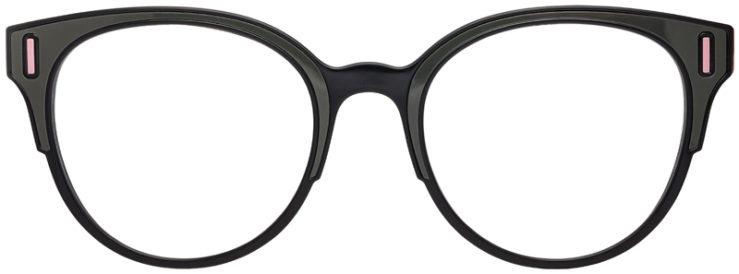 PRESCRIPTION-GLASSES-MODELPRADA-VPR08U-BLACK-OLIVE-PINK-FRONT