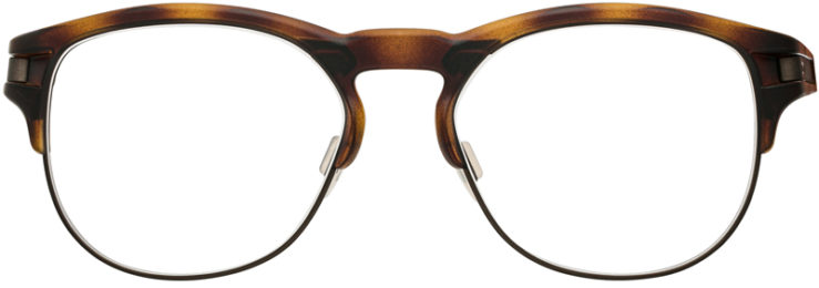 PRESCRIPTION-GLASSES-MODEL-OAKLEY LATCH KEY RX-BROWN TORTOISE-FRONT