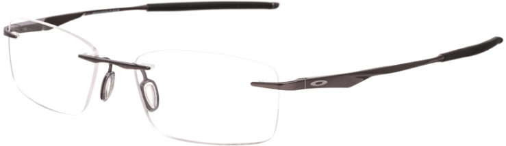 PRESCRIPTION-GLASSES-MODEL-OAKLEY TITANIUM WINGFOLD EVR -PLOISHED CEMENT-45
