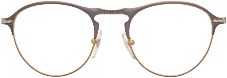 PRESCRIPTION-GLASSES-MODEL-PERSOL 7092-V-MATTE GUNMETAL COPPER-FRONT