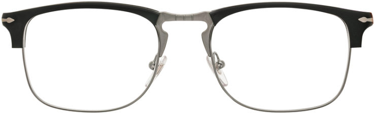 PRESCRIPTION-GLASSES-MODEL-PERSOL 8359-V-MATTE BLACK SILVER-FRONT