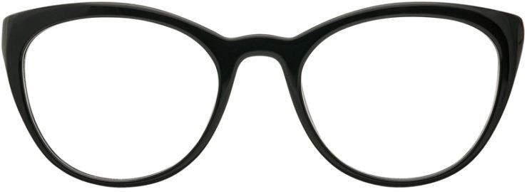 PRESCRIPTION-GLASSES-MODEL-PRADA VPR 07V-BLACK-FRONT