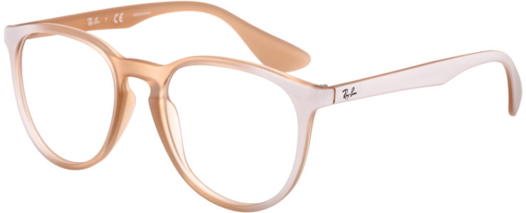 PRESCRIPTION-GLASSES-MODEL-RAY BAN ERIKA RB7046-BEIGE WHITE-45
