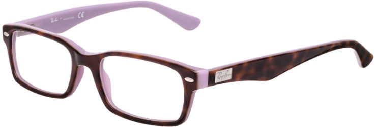 PRESCRIPTION-GLASSES-MODEL-RAY BAN RB5206-TORTOISE PURPLE-45