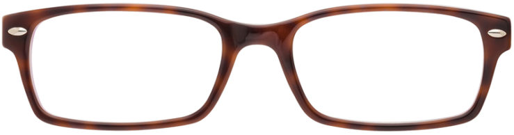 PRESCRIPTION-GLASSES-MODEL-RAY BAN RB5206-TORTOISE PURPLE-FRONT