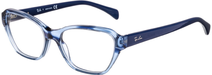 PRESCRIPTION-GLASSES-MODEL-RAY BAN RB5341-LIGHT BLUE GRADIENT-45
