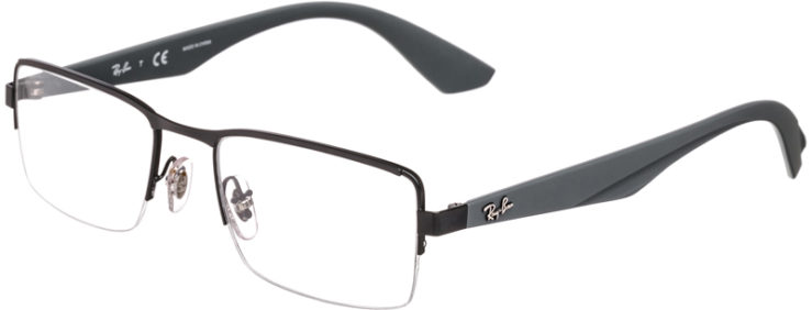 PRESCRIPTION-GLASSES-MODEL-RAY BAN RB6331-MATTE BLACK GREY-45