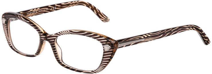 PRESCRIPTION-GLASSES-MODEL-VERSACE 3159-BROWN WAVES-45