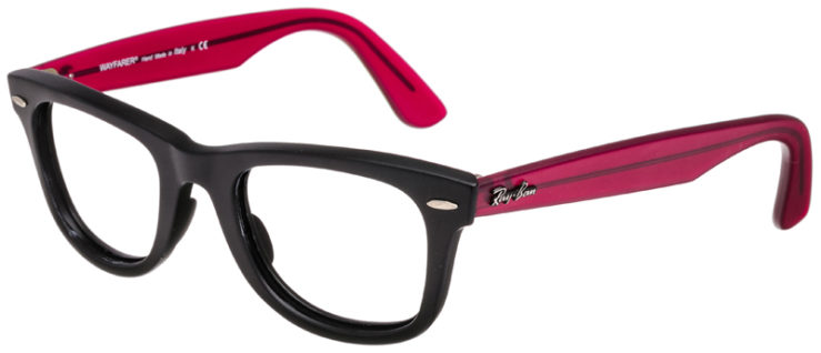 PRESCRIPTION-GLASSES-RAYBAN-RB2140-BLACK-AND-BURGANDY-45