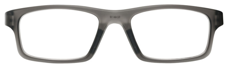 prescription-glasses-Oakley-Crosslink-Satin-Gray-Smoke-FRONT