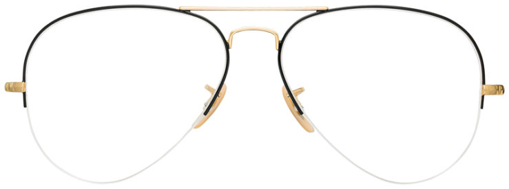 prescription-glasses-Ray-Ban-RB6589-Black-Gold-FRONT