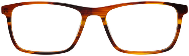 prescription-glasses-Calvin-Klein-CK6009-striped-brown-FRONT