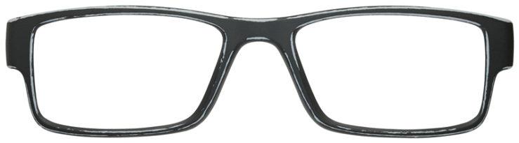 prescription-glasses-Oakley-Airdrop-Satin-Gray-Black-FRONT
