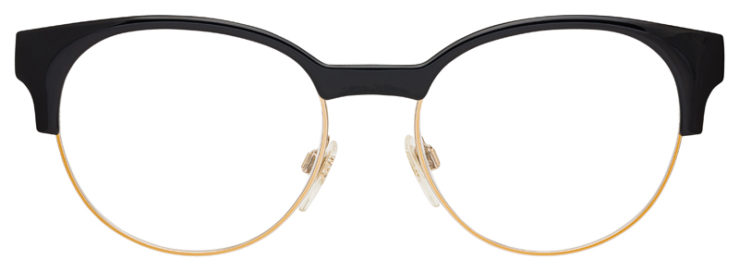prescription-glasses-model-Burberry-BE2261-Black-Gold-FRONT