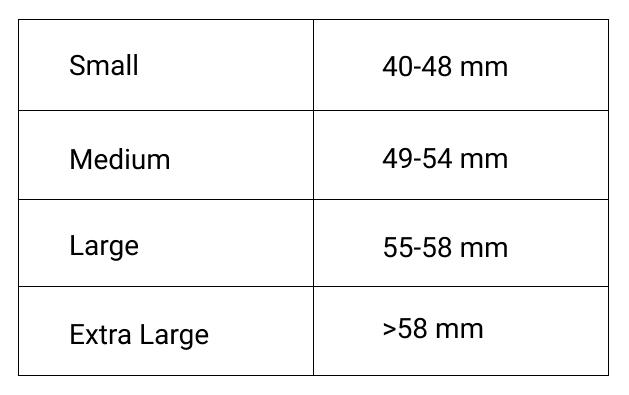 Eyeglasses sizes