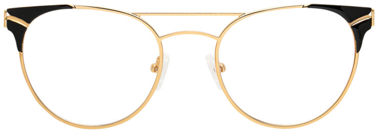 prescription-glasses-model-CAPRI-DC179-Gold-Black-FRONT