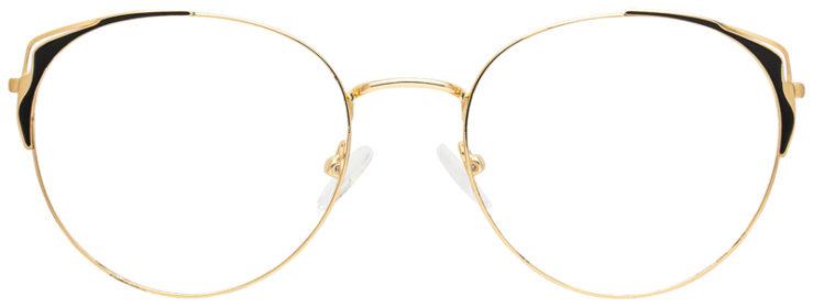 prescription-glasses-model-CAPRI-DC183-Gold-Black-FRONT