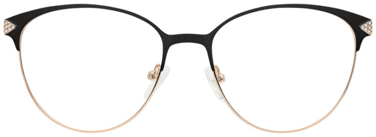 prescription-glasses-model-CAPRI-DC188-Black-Gold-FRONT