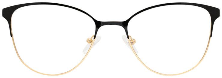 prescription-glasses-model-CAPRI-DC194-Black-Gold-FRONT