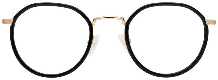 prescription-glasses-model-CAPRI-DC333-Black-Gold-FRONT
