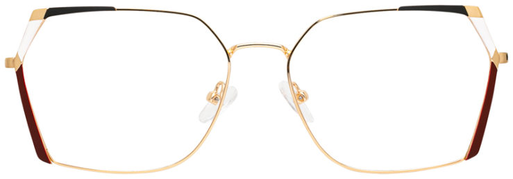 prescription-glasses-model-CAPRI-DC334-Gold-Burgundy-FRONT
