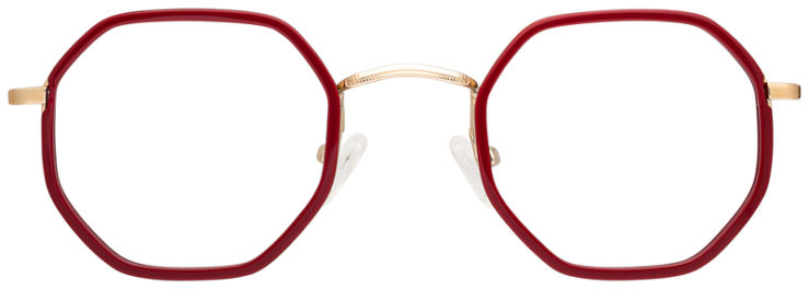 prescription-glasses-model-CAPRI-DC339-Burgundy-Gold-FRONT