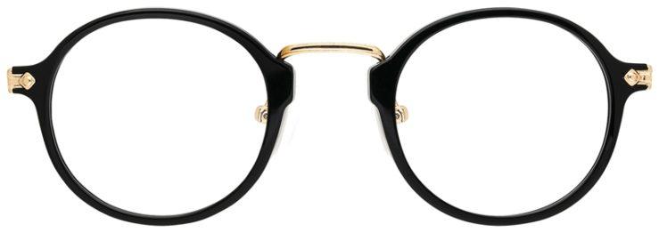 prescription-glasses-model-CAPRI-DC342-Black-Gold-FRONT