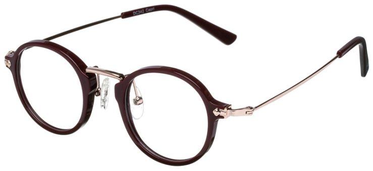 prescription-glasses-model-CAPRI-DC342-Burgundy-Gold-45