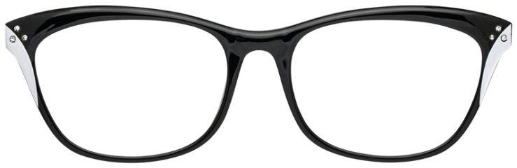 prescription-glasses-model-CAPRI-US103-Black-White-FRONT