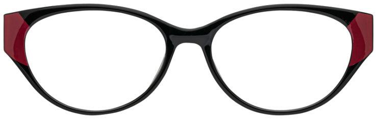 prescription-glasses-model-CAPRI-US104-Black-Burgundy-FRONT