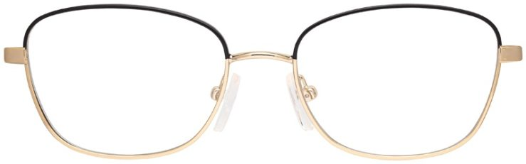 prescription-glasses-model-Michael-Kors-MK3027-Black-gold-FRONT