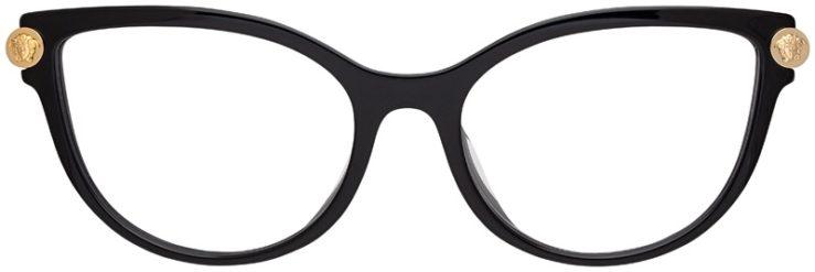 prescription-glasses-model-Versace-VE3270QA-Black-Tan-FRONT