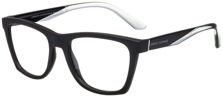 prescription-glasses-model-Armani-Exchange-AX3058-Matte-Black-45