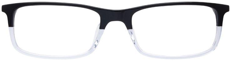 prescription-glasses-model-Nike-7252-Black-Clear-FRONT