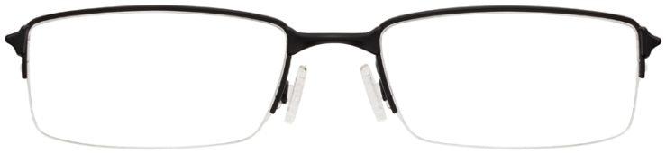 prescription-glasses-model-Oakley-Half shock-Satin-Black-FRONT