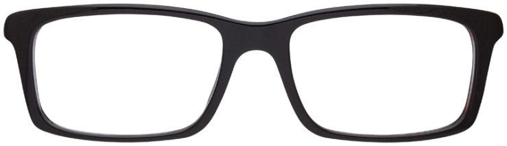 prescription-glasses-model-Prada-VPS-02C-Matte-Brown-FRONT