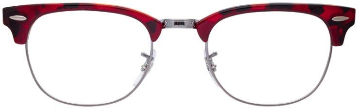 prescription-glasses-model-Ray-Ban-RB5154-Red-Havana-FRONT