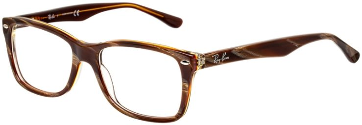 prescription-glasses-model-Ray-Ban-RX5228-wood-brown-45