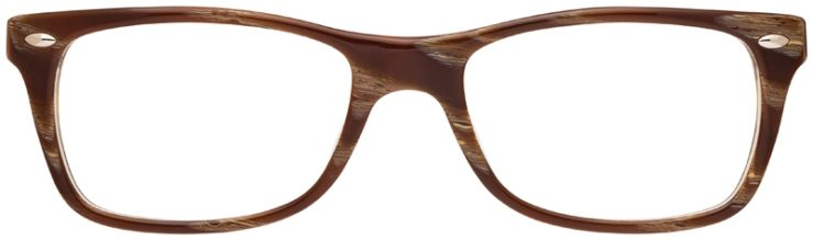 prescription-glasses-model-Ray-Ban-RX5228-wood-brown-FRONT