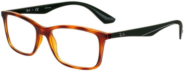 prescription-glasses-model-Ray-Ban-RX7047-green-tortoise-45