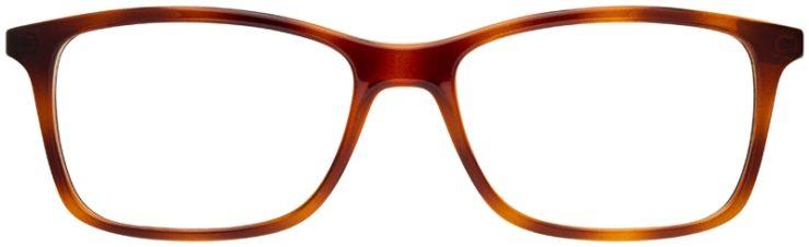 prescription-glasses-model-Ray-Ban-RX7047-green-tortoise-FRONT
