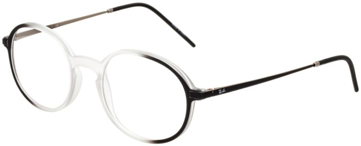 prescription-glasses-model-Ray-Ban-RX7153-black-clear-45