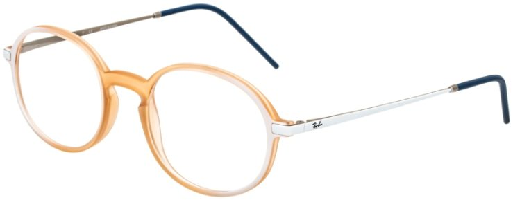 prescription-glasses-model-Ray-Ban-RX7153-white-clear-peach-45