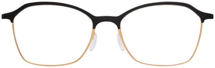 prescription-glasses-model-Silhouette-Urban-Fusion-SPX-1581-Matte-Black-Gold-FRONT