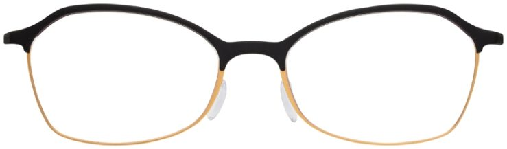 prescription-glasses-model-Silhouette-Urban-Fusion-SPX-1582-Matte-Black-Gold-FRONT