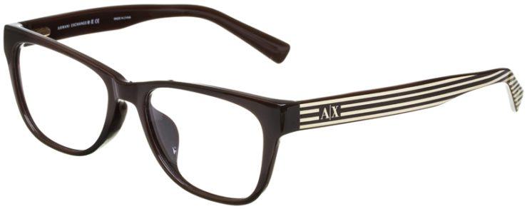 prescription-glasses-model-Armani-Exchange-AX3020F-Brown-Crème-Stripe-45